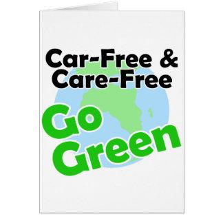 el coche libre y el cuidado liberan felicitacion