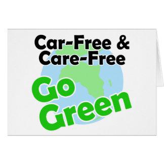 el coche libre y el cuidado liberan tarjetón