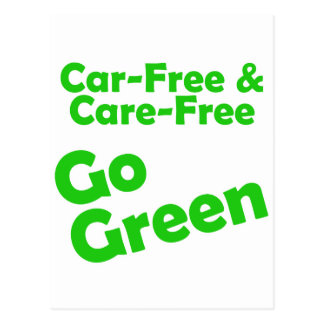 el coche libre y el cuidado liberan postales