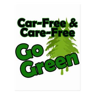 el coche libre y el cuidado liberan tarjeta postal
