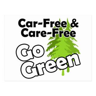 el coche libre y el cuidado liberan postal