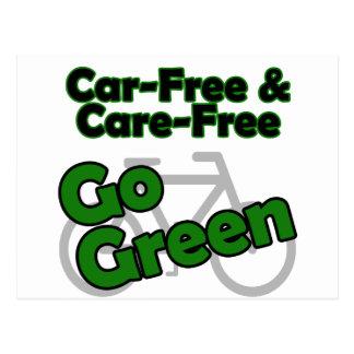el coche libre y el cuidado liberan tarjetas postales