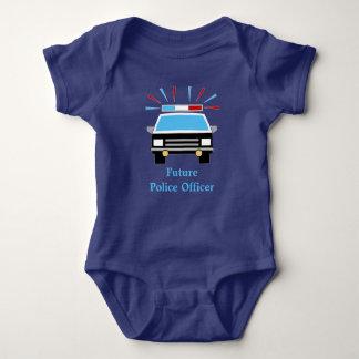 El coche policía el | personalizó al oficial de body para bebé