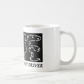 El coche rápido ayuna conductor taza de café
