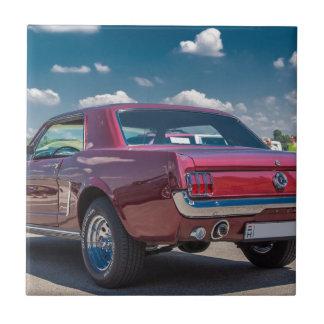 El coche se divierte el metal rojo de los engranaj azulejo cuadrado pequeño