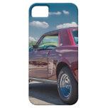 El coche se divierte el metal rojo de los engranaj iPhone 5 fundas