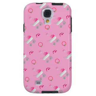 El cochecito de bebé rosado Samsung encajona Funda Para Galaxy S4