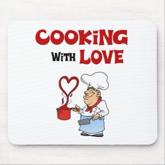 El cocinar con amor tapetes de ratones