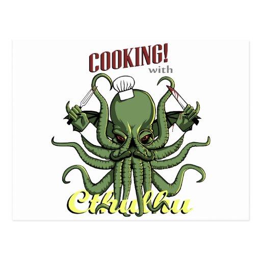 El cocinar con Cthulhu Postal