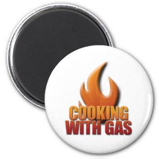 El cocinar con el gas imán redondo 5 cm