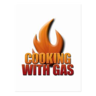 El cocinar con el gas postales