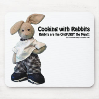 El cocinar con los conejos - cojín de ratón alfombrillas de raton