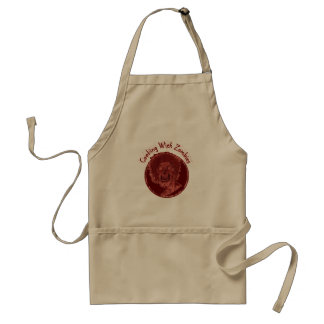 El cocinar con los zombis - rojo delantal