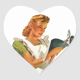 El cocinar de la cocina del casero del vintage de calcomanía corazón personalizadas
