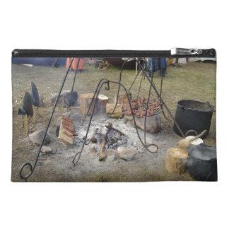 El cocinar de la hoguera del mercado de Viking