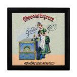 El cocinar de la publicidad del chocolate del vint caja de joyas