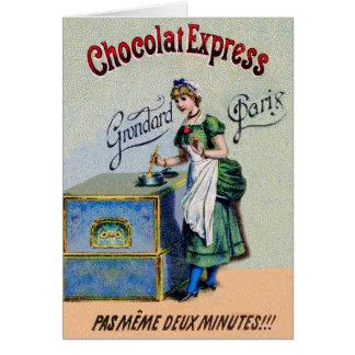 El cocinar de la publicidad del chocolate del vint tarjetas