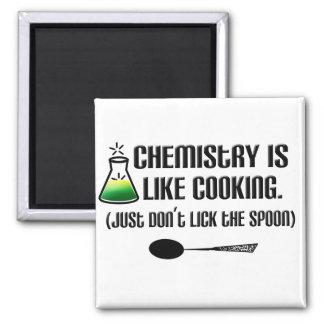 El cocinar de la química imán cuadrado