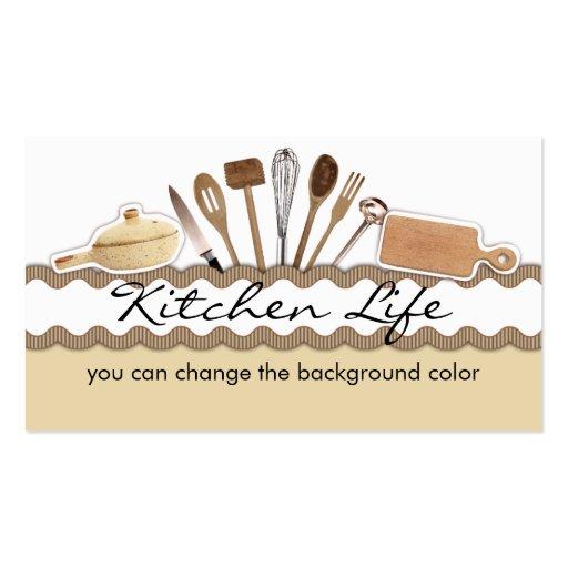 El cocinar de los utensilios de la cocina del país tarjeta de visita