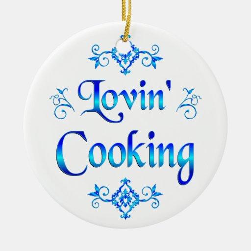 El cocinar de Lovin Adorno Redondo De Cerámica