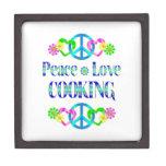 El cocinar del amor de la paz cajas de regalo de calidad