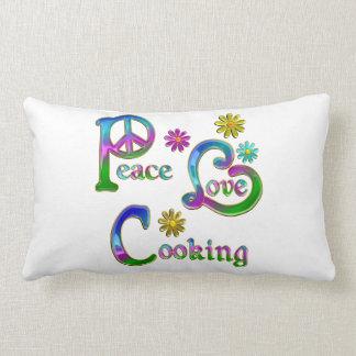 El cocinar del amor de la paz almohada