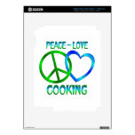 El COCINAR del amor de la paz iPad 3 Pegatina Skin