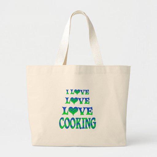 El cocinar del amor del amor bolsa de mano