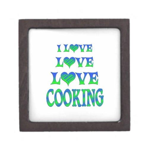 El cocinar del amor del amor caja de regalo de calidad