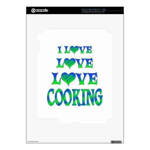 El cocinar del amor del amor calcomanías para iPad 2