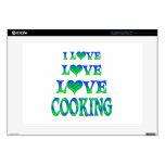 El cocinar del amor del amor portátil 38,1cm skins