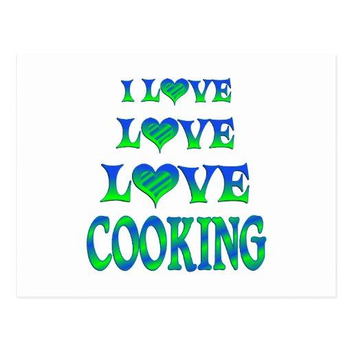 El cocinar del amor del amor postal