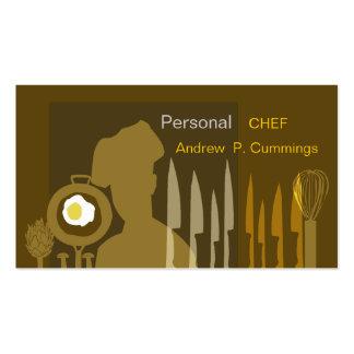 El cocinar del cocinero de la comida tarjetas de visita