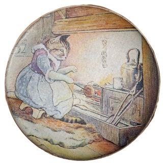 El cocinar del gato del gatito