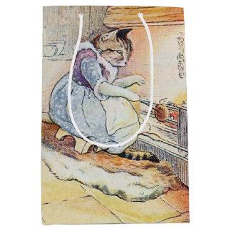 El cocinar del gato del gatito bolsa de regalo mediana
