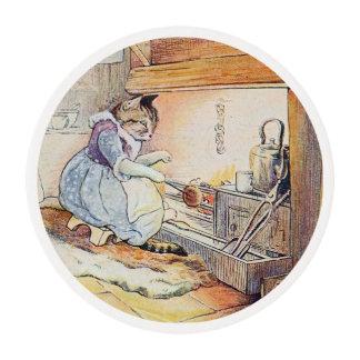 El cocinar del gato del gatito láminas de glaseado redondas