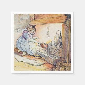 El cocinar del gato del gatito servilleta desechable
