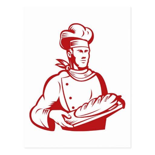el cocinar del panadero del cocinero del cocinero  postal