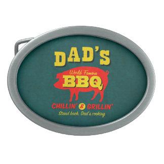 El cocinar del papá hebillas de cinturon ovales