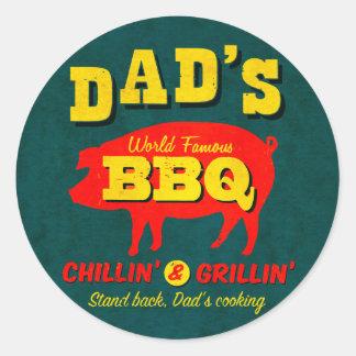 El cocinar del papá etiquetas redondas