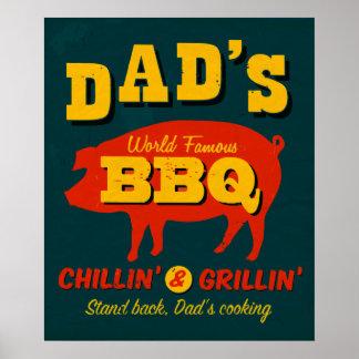 El cocinar del papá póster