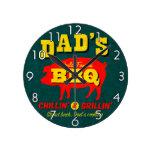 El cocinar del papá reloj de pared