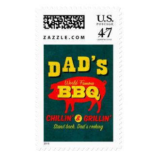 El cocinar del papá sellos postales