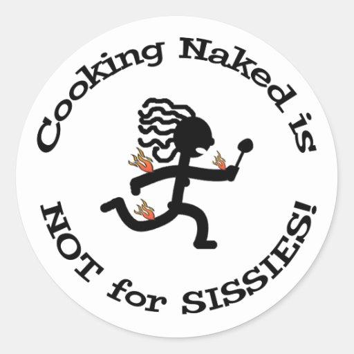 ¡El cocinar desnudo! - Pegatina