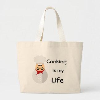 El cocinar divertido del cocinero es mi vida bolsa