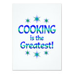El cocinar es el más grande invitación 13,9 x 19,0 cm