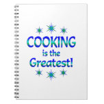 El cocinar es el más grande libreta espiral