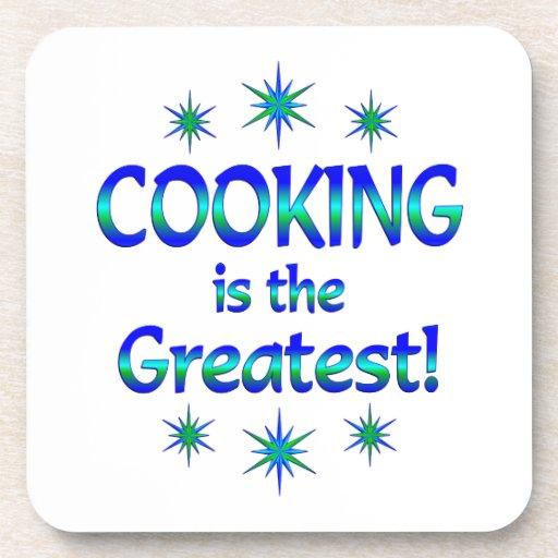 El cocinar es el más grande posavasos de bebidas