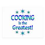 El cocinar es el más grande postal