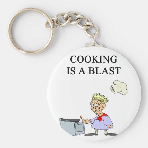 el cocinar es un gas llavero personalizado